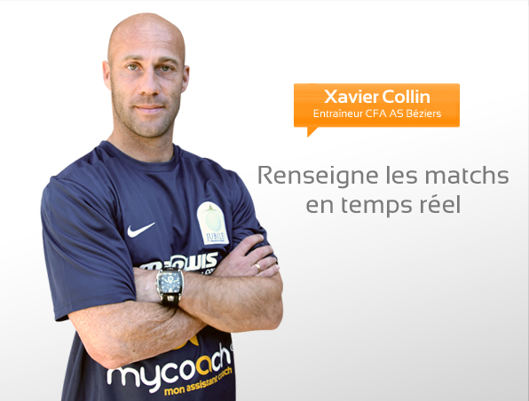 Xavier Collin, entraîneur CFA AS Béziers
