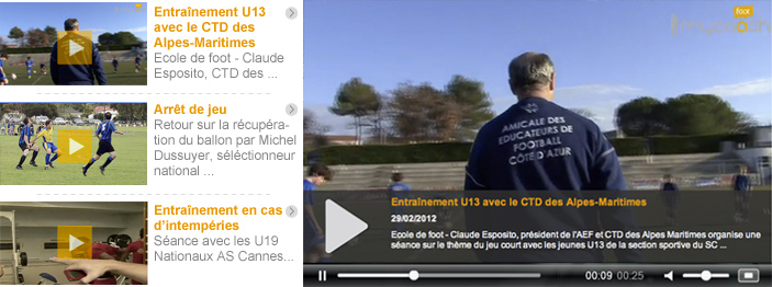 Screenshot du site my coach tv